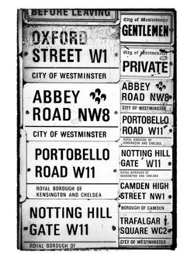 Antique Enamelled Signs - W11 Railroad Wall Plaque Signs - Wall Signs - Notting Hill - London - UK by Philippe Hugonnard