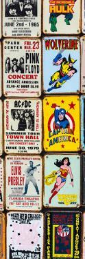 Antique Enamelled Signs - Wall Signs - Notting Hill - London - UK - England - Door Poster by Philippe Hugonnard