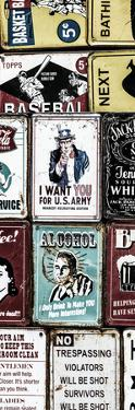 Antique Enamelled Signs - Wall Signs - Notting Hill - London - UK - Photography Door Poster by Philippe Hugonnard
