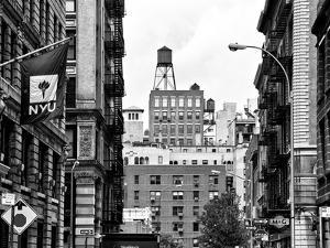 Architecture and Buildings, Greenwich Village, Nyu Flag, Manhattan, NYC by Philippe Hugonnard