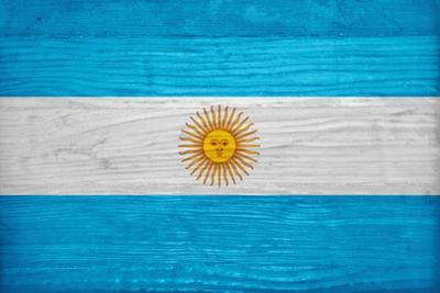 Argentina Flag Design with Wood Patterning - Flags of the World Series by Philippe Hugonnard