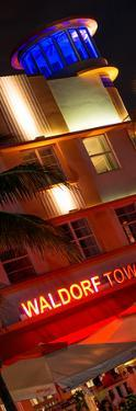 Art Deco Architecture at Night - Ocean Drive - Miami Beach - Florida by Philippe Hugonnard