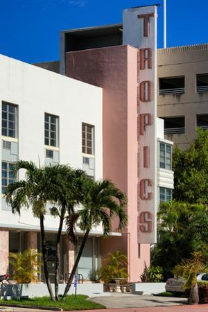 Art Deco Architecture of Miami Beach - The Tropics Hotel - Florida by Philippe Hugonnard