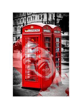 Art Print Series - London Calling - Phone Booths - UK Red Phone - London - England by Philippe Hugonnard