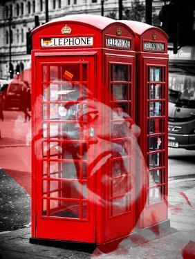 Art Print Series - London Calling - Phone Booths - UK Red Phone - London - UK - England by Philippe Hugonnard