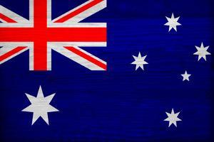Australia Flag Design with Wood Patterning - Flags of the World Series by Philippe Hugonnard