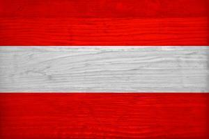 Austria Flag Design with Wood Patterning - Flags of the World Series by Philippe Hugonnard