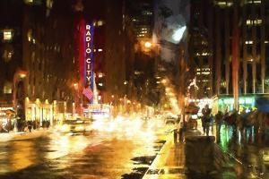 Avenue of the Americas by Night by Philippe Hugonnard