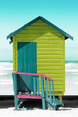 Awesome South Africa Collection - Colorful Beach Hut Cape Town - Lime & Greensea by Philippe Hugonnard