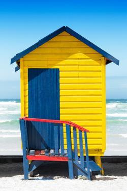 Awesome South Africa Collection - Colorful Beach Hut Cape Town - Yellow & Minight Blue by Philippe Hugonnard