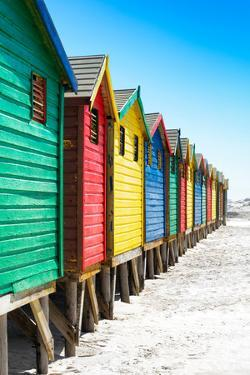 Awesome South Africa Collection - Colorful Beach Huts on Muizenberg - Cape Town IX by Philippe Hugonnard