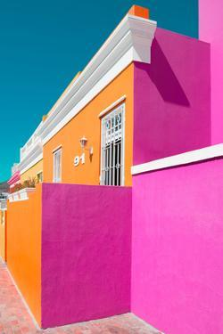 "Awesome South Africa Collection - Colorful Houses ""Ninety-One"" Orange & Deep Pink by Philippe Hugonnard"