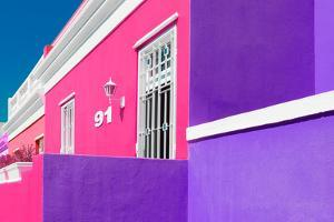 "Awesome South Africa Collection - Colorful Houses ""Ninety-One"" Pink & Violet by Philippe Hugonnard"