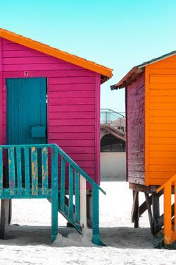 """Awesome South Africa Collection - Colorful Houses """"Seven"""" Deep Pink & Teal by Philippe Hugonnard"""