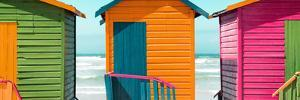 Awesome South Africa Collection Panoramic - Colorful Huts on the Beach IV by Philippe Hugonnard