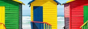 Awesome South Africa Collection Panoramic - Colorful Huts on the Beach by Philippe Hugonnard