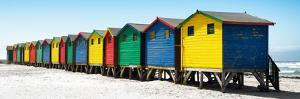 Awesome South Africa Collection Panoramic - Muizenberg Beach Huts II by Philippe Hugonnard