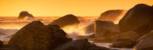 Awesome South Africa Collection Panoramic - Power of the Ocean at Sunset IV by Philippe Hugonnard