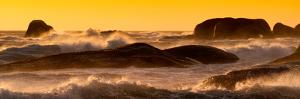 Awesome South Africa Collection Panoramic - Power of the Ocean at Sunset by Philippe Hugonnard