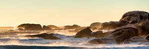 Awesome South Africa Collection Panoramic - Powerful Ocean Wave at Sunset by Philippe Hugonnard