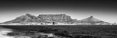 Awesome South Africa Collection Panoramic - Table Mountain - Cape Town B&W by Philippe Hugonnard