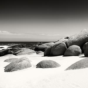 Awesome South Africa Collection Square - Boulders White Beach B&W by Philippe Hugonnard