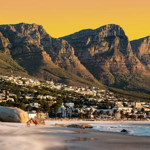 Awesome South Africa Collection Square - Camps Bay at Sunset II by Philippe Hugonnard