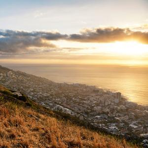 Awesome South Africa Collection Square - Cape Town at Sunset II by Philippe Hugonnard