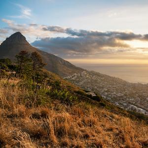 Awesome South Africa Collection Square - Cape Town at Sunset by Philippe Hugonnard
