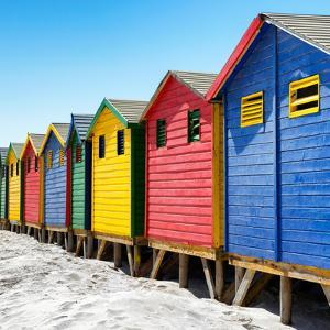 Awesome South Africa Collection Square - Colorful Beach Huts at Muizenberg - Cape Town III by Philippe Hugonnard