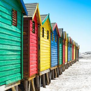Awesome South Africa Collection Square - Colorful Beach Huts at Muizenberg - Cape Town IX by Philippe Hugonnard