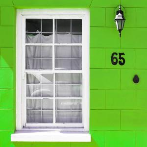 "Awesome South Africa Collection Square - Colorful House ""Sixty Five"" Green by Philippe Hugonnard"