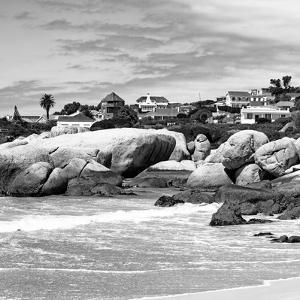 Awesome South Africa Collection Square - Landscape of Boulders Beach - Cape Town B&W by Philippe Hugonnard