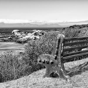 Awesome South Africa Collection Square - Lonely Bench B&W by Philippe Hugonnard