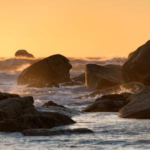 Awesome South Africa Collection Square - Power of the Ocean at Sunset V by Philippe Hugonnard