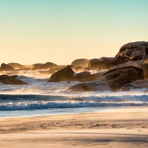 Awesome South Africa Collection Square - Power of the Ocean at Sunset by Philippe Hugonnard