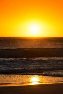 Awesome South Africa Collection - Sunset Blazing Sun over the Ocean I by Philippe Hugonnard