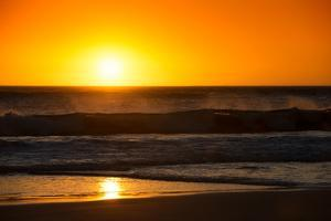 Awesome South Africa Collection - Sunset Blazing Sun over the Ocean by Philippe Hugonnard