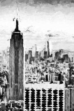 B&W Empire - In the Style of Oil Painting by Philippe Hugonnard