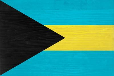 Bahamas Flag Design with Wood Patterning - Flags of the World Series by Philippe Hugonnard