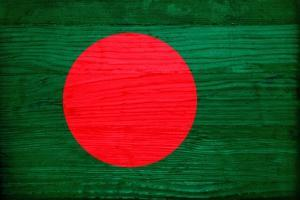 Bangladesh Flag Design with Wood Patterning - Flags of the World Series by Philippe Hugonnard