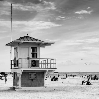 Beach Scene in Florida with a Life Guard Station by Philippe Hugonnard