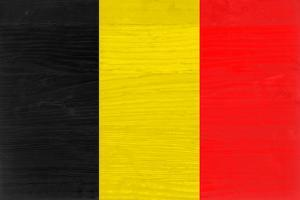 Belgium Flag Design with Wood Patterning - Flags of the World Series by Philippe Hugonnard