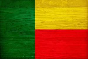 Benin Flag Design with Wood Patterning - Flags of the World Series by Philippe Hugonnard