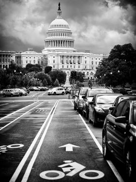 Bicycle Path Leading to the Capitol, US Congress, Washington D.C, District of Columbia by Philippe Hugonnard