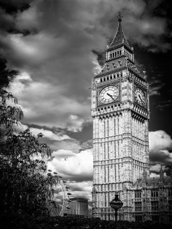 Big Ben - City of London - UK - England - United Kingdom - Europe - Black and White Photography