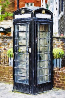 Black Booth - In the Style of Oil Painting by Philippe Hugonnard