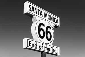 Black California Series - Santa Monica Route 66 by Philippe Hugonnard