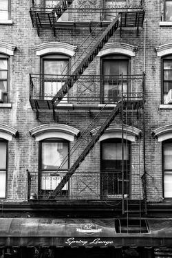 Black Manhattan Collection - Black Fire Escape Stairs by Philippe Hugonnard