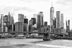Black Manhattan Collection - Brooklyn Bridge East River by Philippe Hugonnard